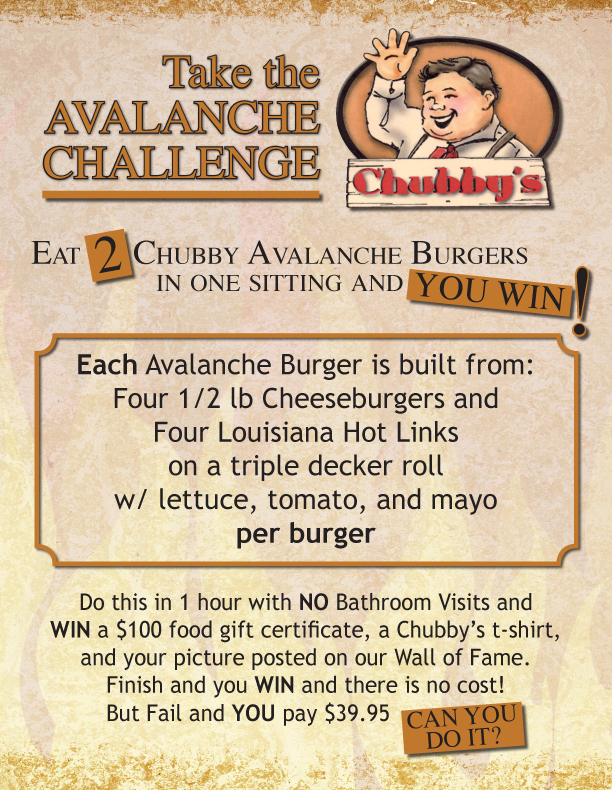 Chubby's Challenge Poster